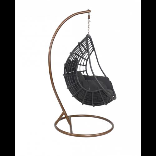 Lesli Living  Hangstoel - Sturdy - Zwart - Lesli Living