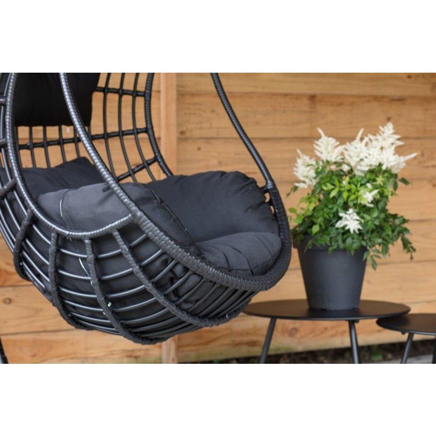Hangstoel - Sturdy - Zwart - Lesli Living-5