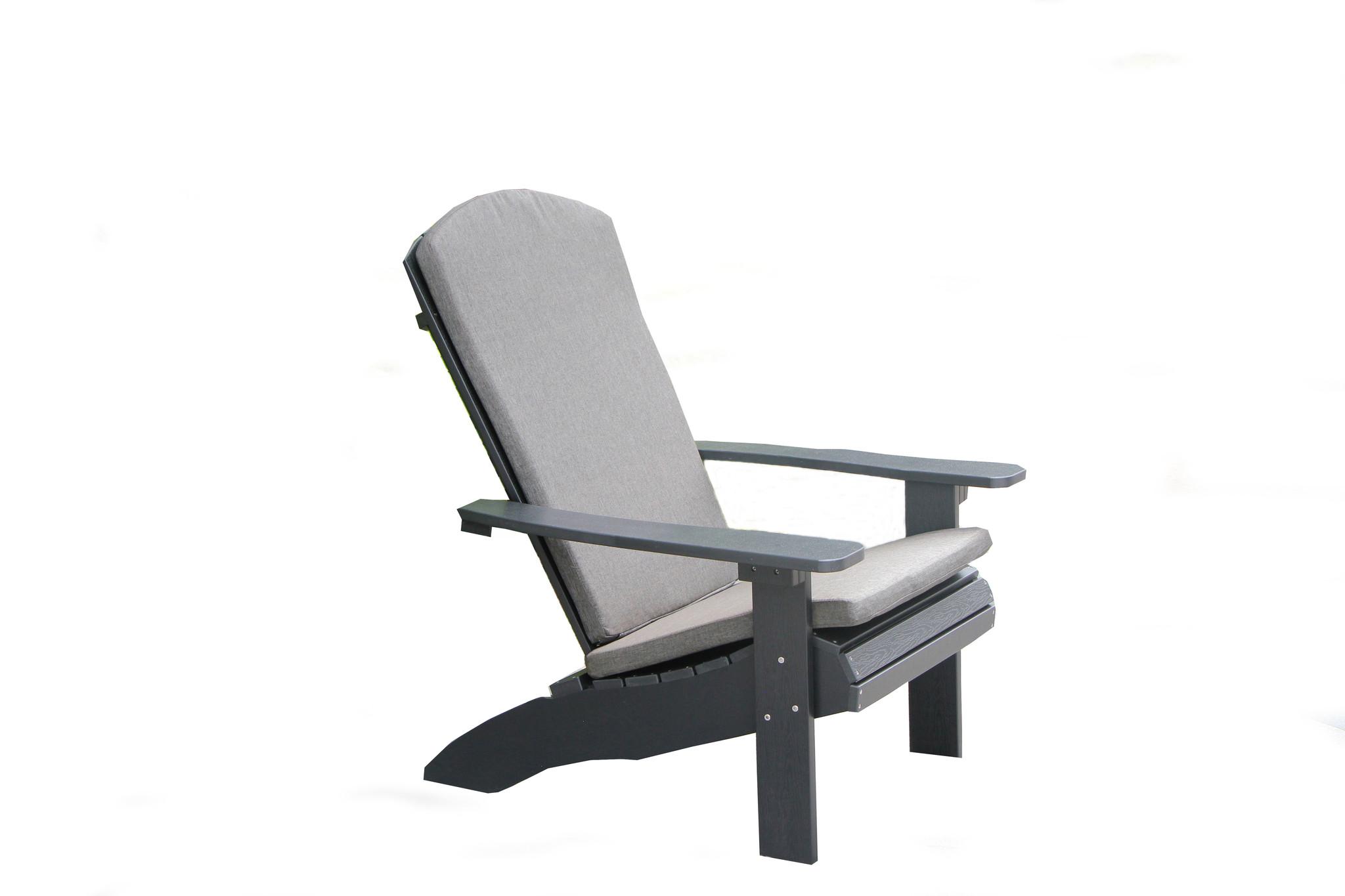 Adirondack Chair Kussens.Garden Interiors Adirondack Set Zwart Kunststof Polywood Garden Interiors