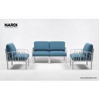 thumb-Komodo Loungeset - Adriatisch Blauw / Taupe - Sunbrella - Modulaire - Nardi-5