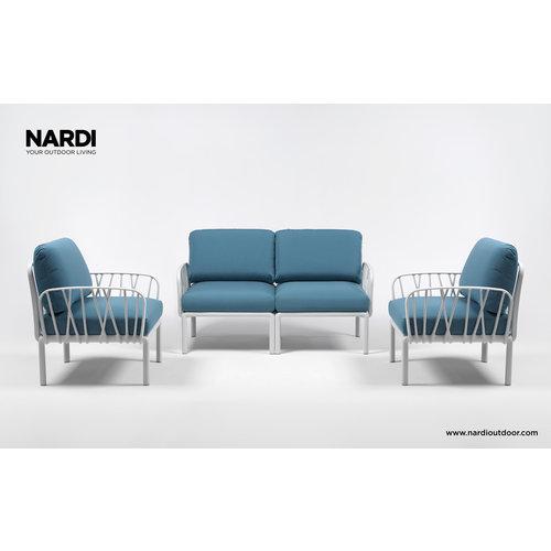 Nardi Komodo Loungeset - Adriatisch Blauw / Taupe - Sunbrella - Modulaire - Nardi