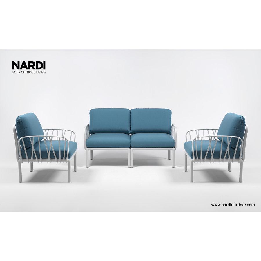 Komodo Loungeset - Adriatisch Blauw / Taupe - Sunbrella - Modulaire - Nardi-5