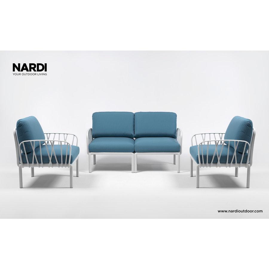 Komodo Loungeset - Adriatisch Blauw / Wit - Sunbrella - Modulaire - Nardi-4