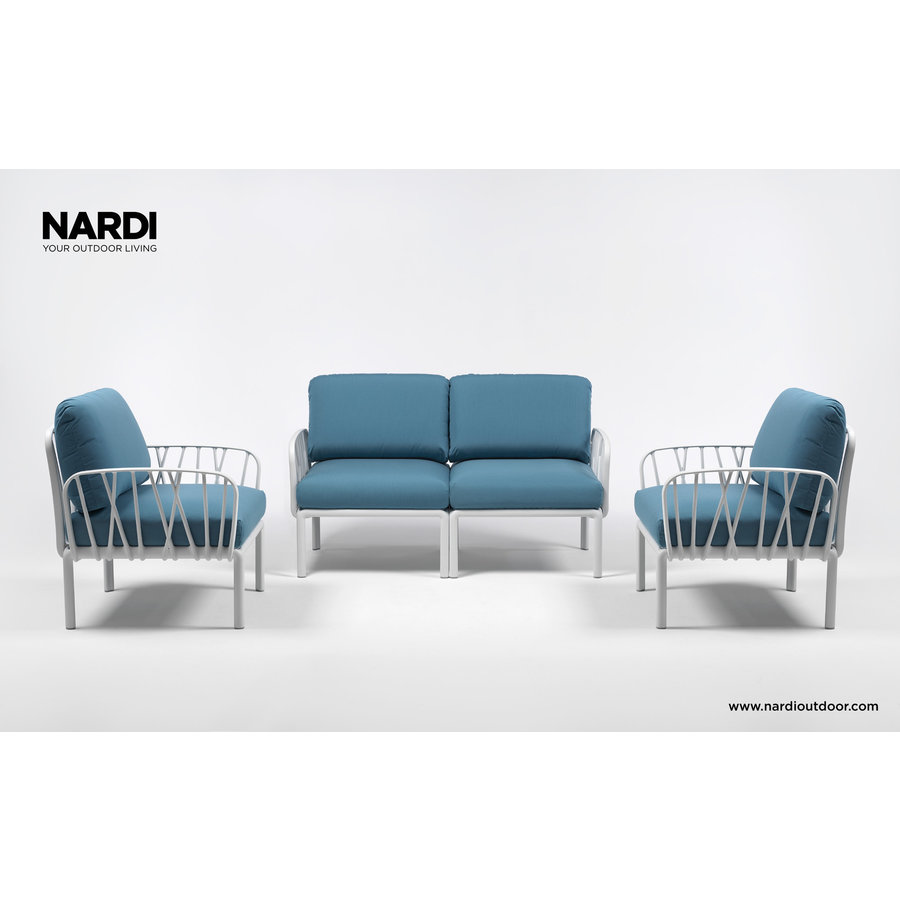 Komodo Loungeset - Blauw / Wit - Sunbrella - Modulaire - Nardi-4