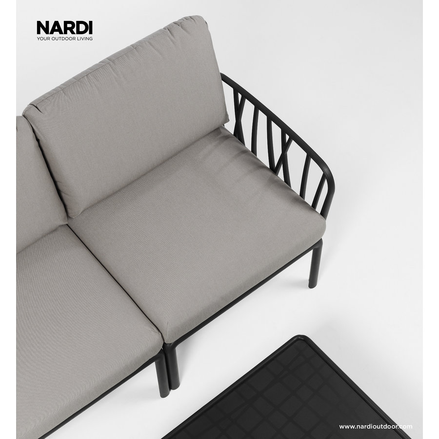 Komodo Loungeset - Grijs / Antraciet - Modulaire - Nardi-4
