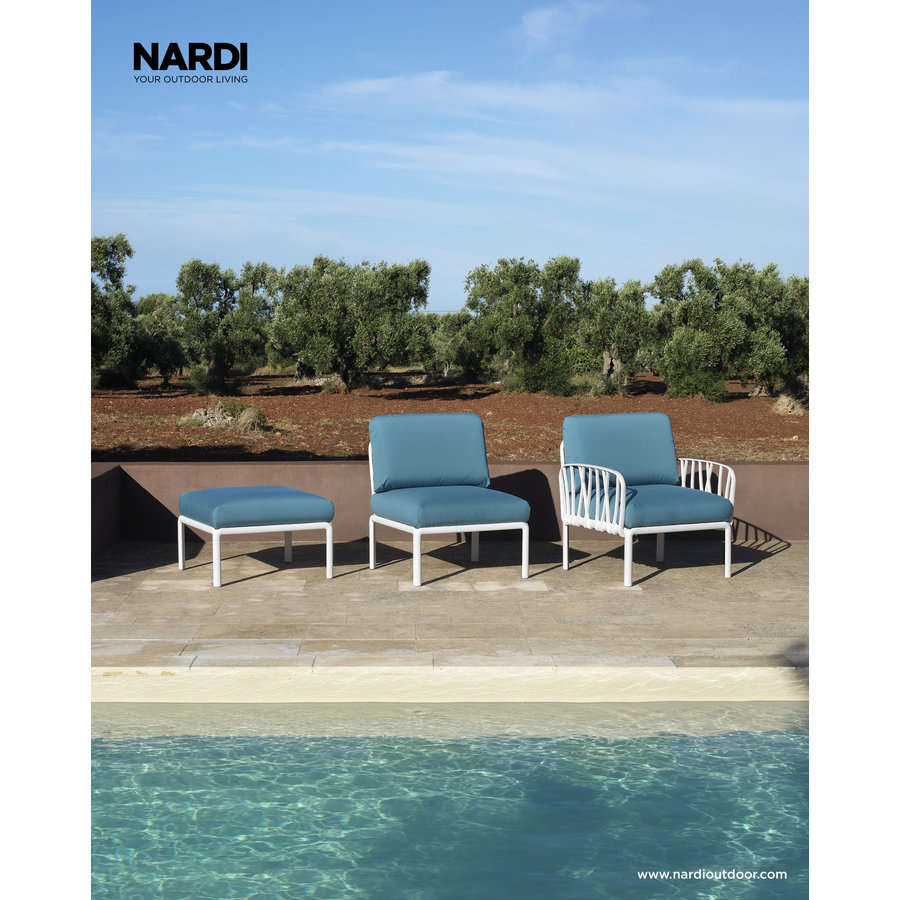 Komodo Loungeset - Adriatisch Blauw / Antraciet - Sunbrella - Modulaire - Nardi-5