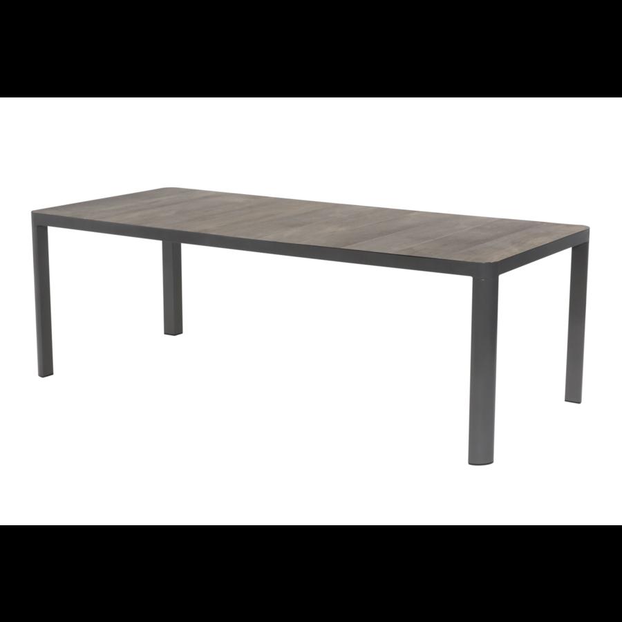 Tuintafel - Castilla - Negro - 220x100 cm - Keramiek - Lesli Living-1