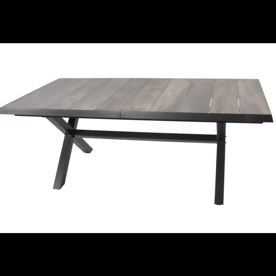 Tuintafel - Castilla - Negro - Uitschuifbaar 205/265 cm - Lesli Living-2