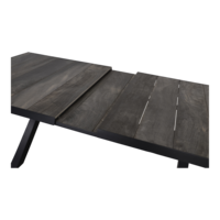 thumb-Tuintafel - Castilla - Negro - Uitschuifbaar 205/265 cm - Lesli Living-5