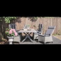 thumb-Tuintafel - Castilla - Negro - Uitschuifbaar 205/265 cm - Lesli Living-4