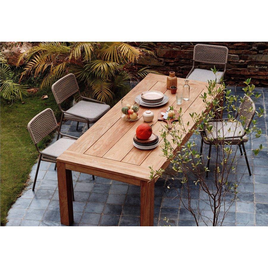 Teakhouten Tuintafel - Cancun - 240x100x78 cm - Garden Interiors-3