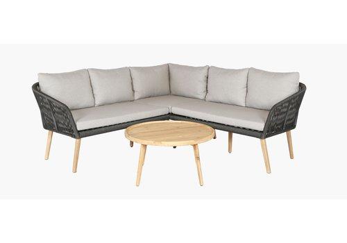 Hoek Loungeset - Altea - Grijs - Rope - Garden Interiors