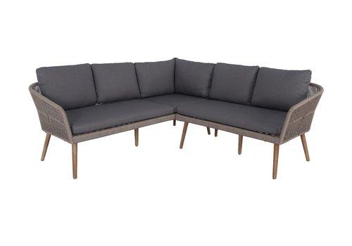 Hoek Loungeset - Altea - Taupe - Rope - Alu - Garden Interiors