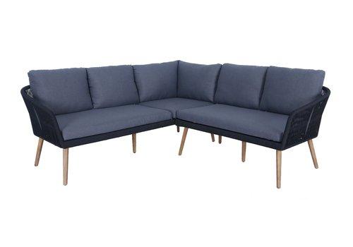 Hoek Loungeset - Altea - Antraciet - Rope - Alu - Garden Interiors