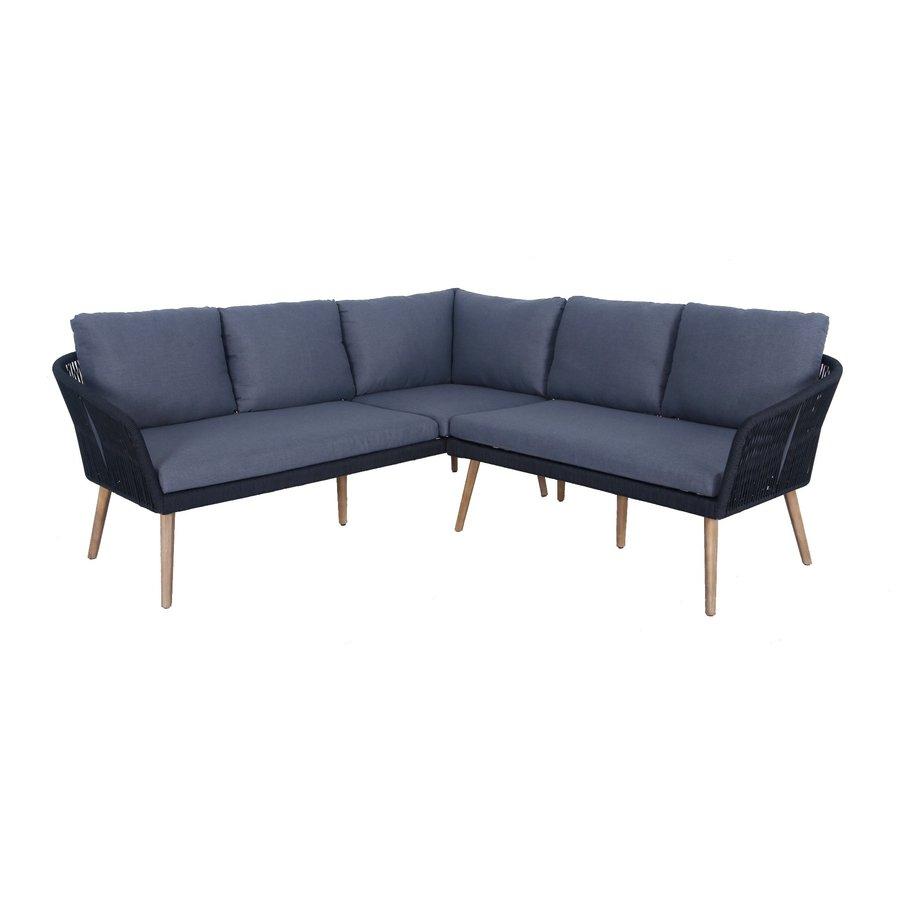 Hoek Loungeset - Altea - Antraciet - Rope - Alu - Garden Interiors-1