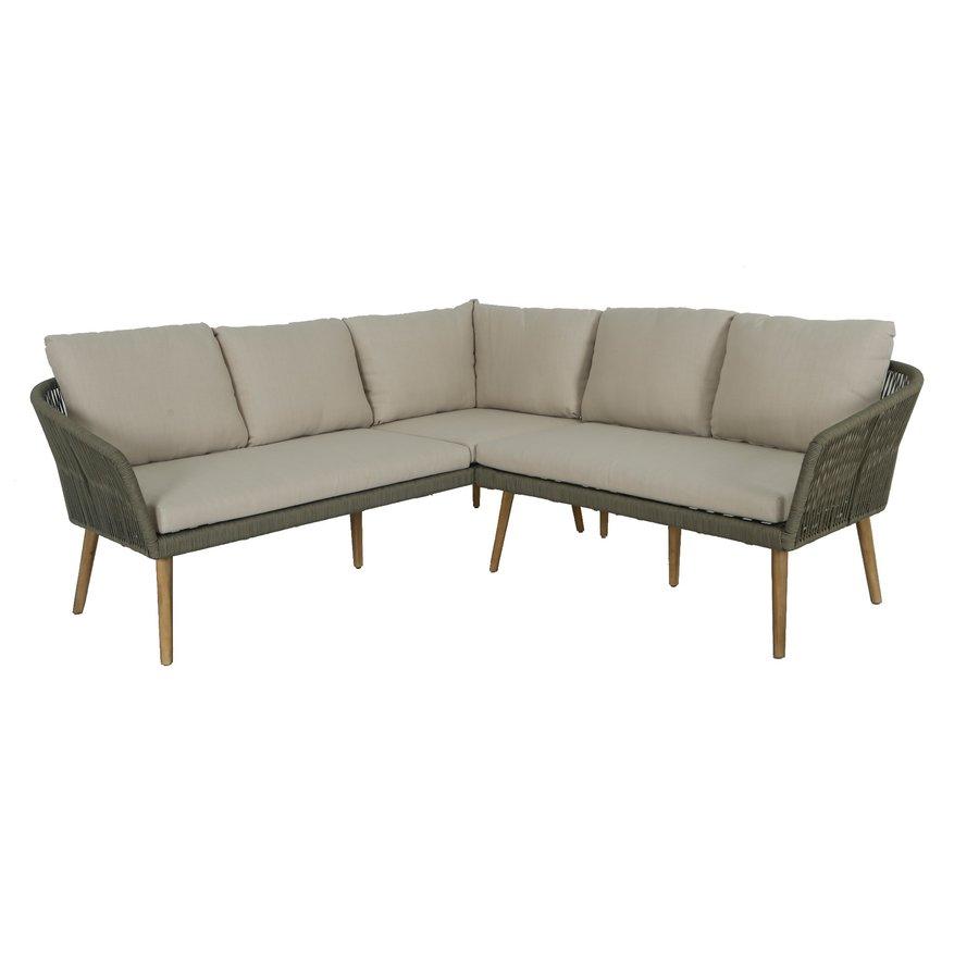 Hoek Loungeset - Altea - Olive - Rope - Alu - Garden Interiors-1