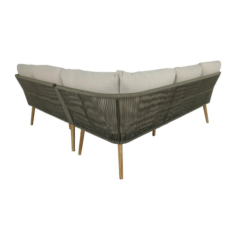 Hoek Loungeset - Altea - Olive - Rope - Alu - Garden Interiors-6