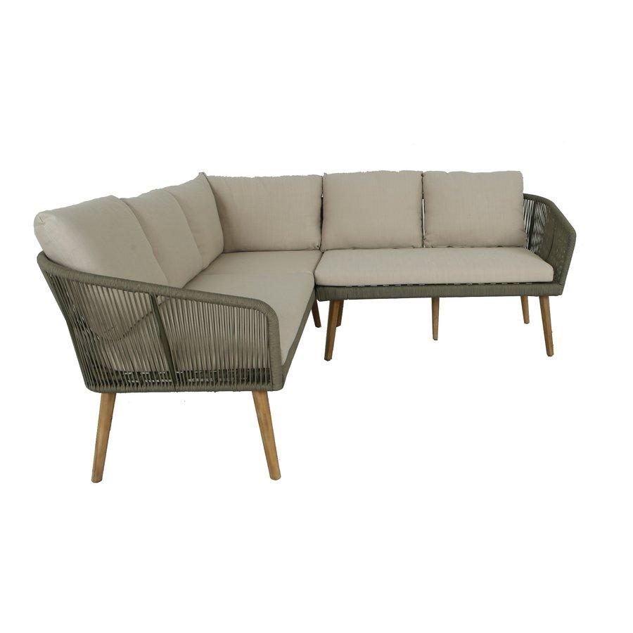 Hoek Loungeset - Altea - Olive - Rope - Alu - Garden Interiors-9