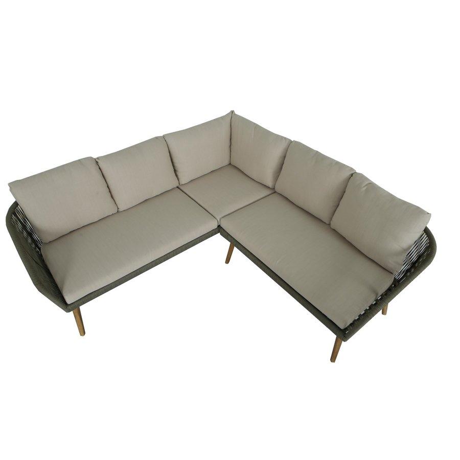 Hoek Loungeset - Altea - Olive - Rope - Alu - Garden Interiors-8