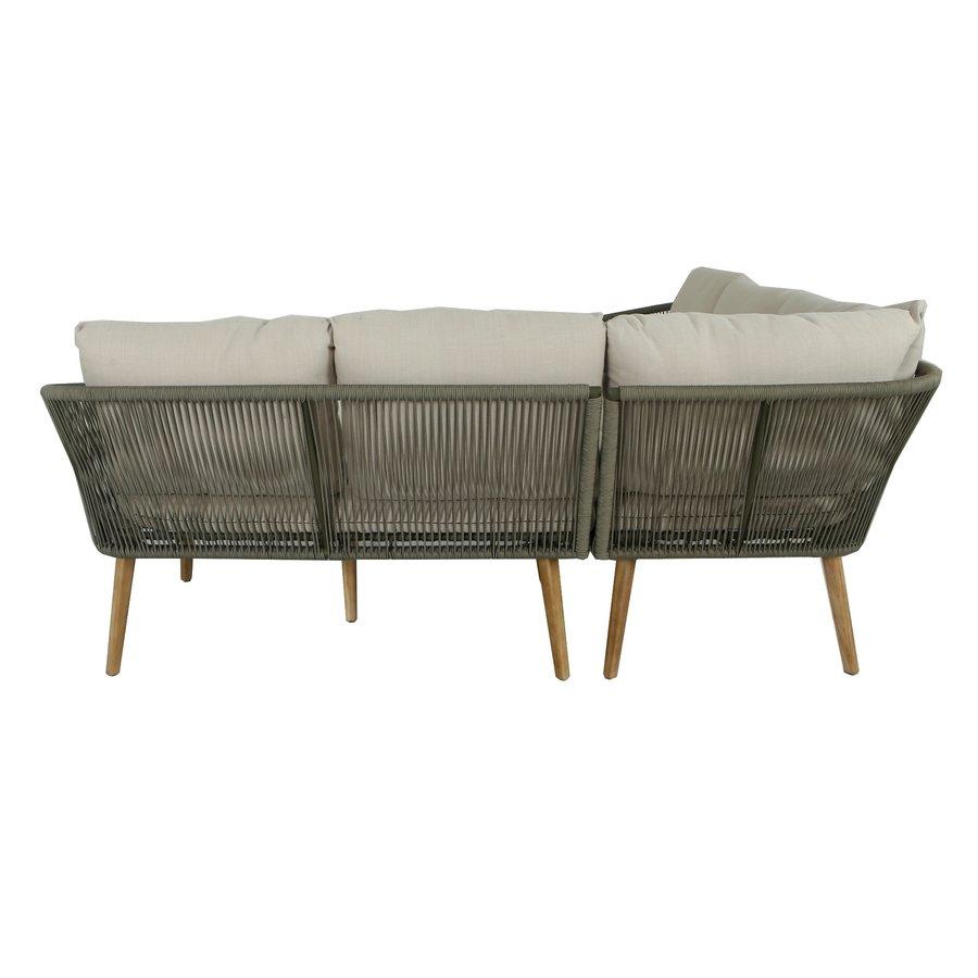 Hoek Loungeset - Altea - Olive - Rope - Alu - Garden Interiors-5