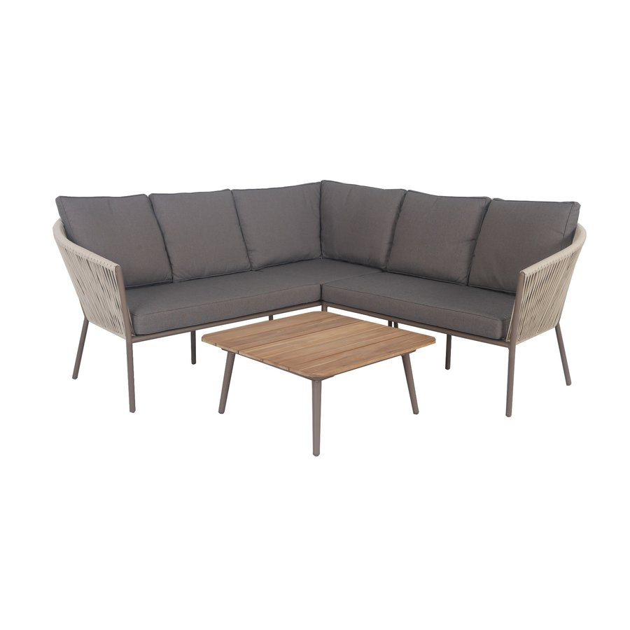 Hoek Loungeset - Reims - Beige - Rope - Alu - Garden Interiors-1