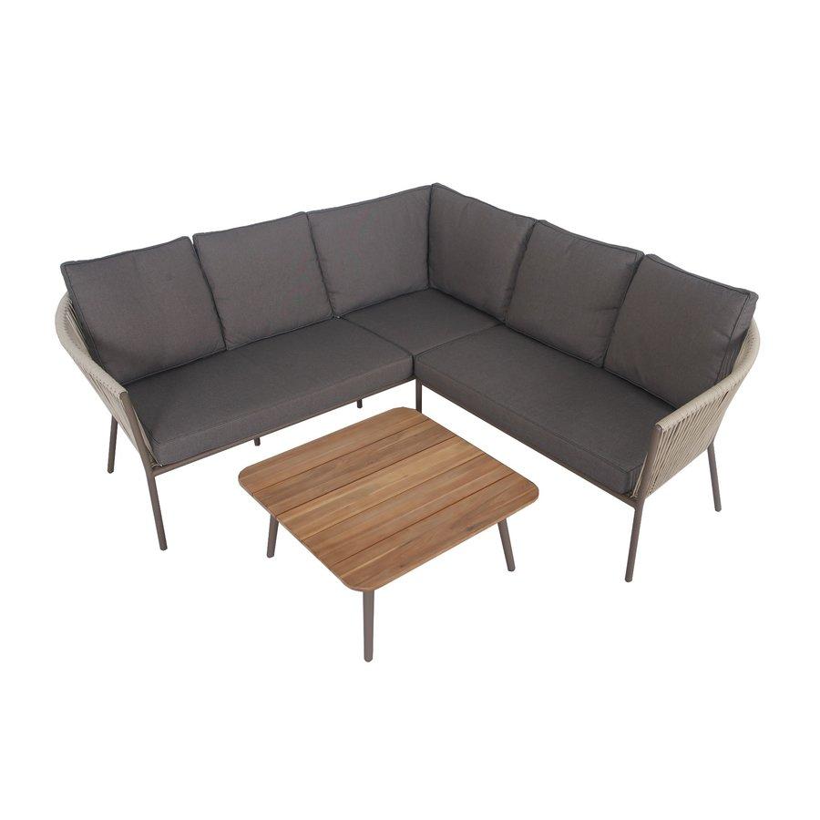 Hoek Loungeset - Reims - Beige - Rope - Alu - Garden Interiors-7