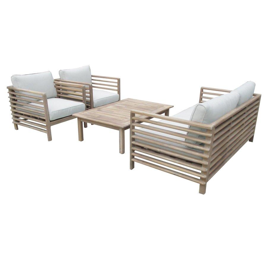 Stoel-Bank Loungeset - Selby - Acacia - Zand - Garden Interiors-4