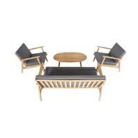 thumb-Stoel-Bank Loungeset - Narvik - Acacia - Grijs - Garden Interiors-5