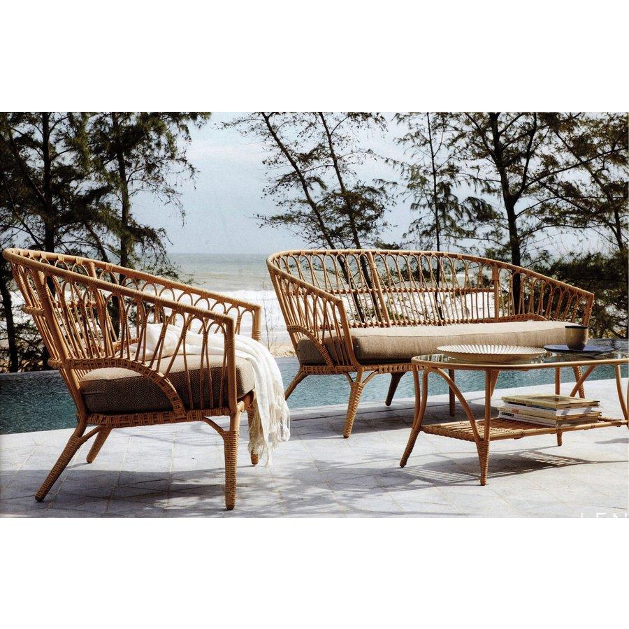 Stoel-Bank Loungeset - Lenco - Bamboo Look - Wicker - Garden Interiors-3