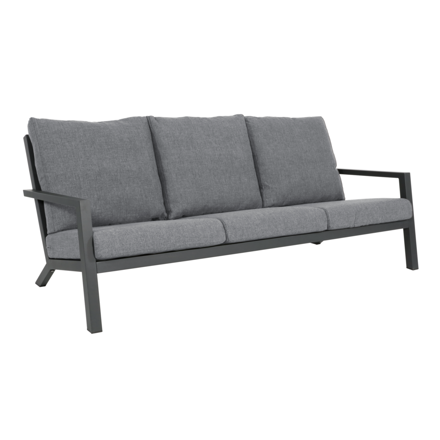 Stoel-Bank Loungeset – Down Town – Antraciet - Aluminium – Lesli Living-4