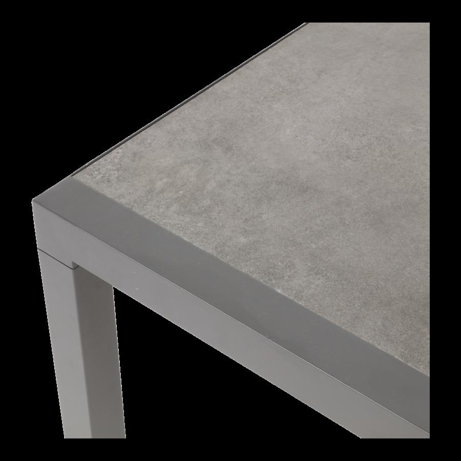 Stoel-Bank Loungeset – Down Town – Antraciet - Aluminium – Lesli Living-10
