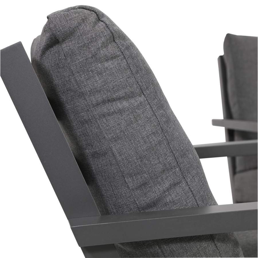 Stoel-Bank Loungeset – Down Town – Antraciet - Aluminium – Lesli Living-7