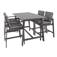 thumb-Barset - Malibu - Antraciet - Aluminium - Lesli Living-1