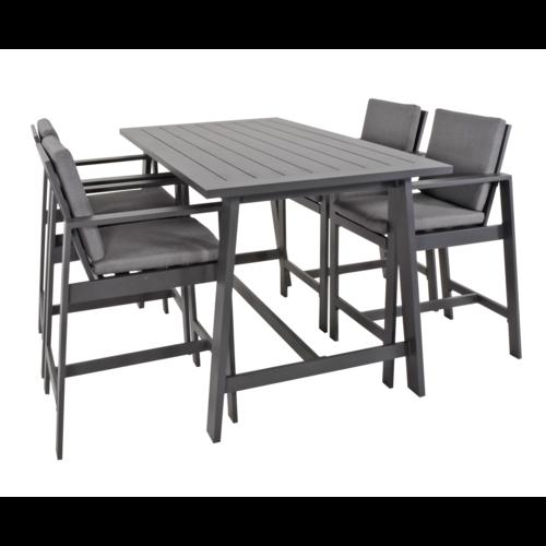 Lesli Living  Barset - Malibu - Antraciet - Aluminium - Lesli Living