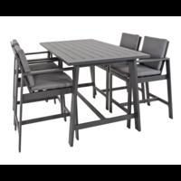 thumb-Barstoel - Malibu - 2 Stuks - Antraciet - Aluminium - Lesli Living-5