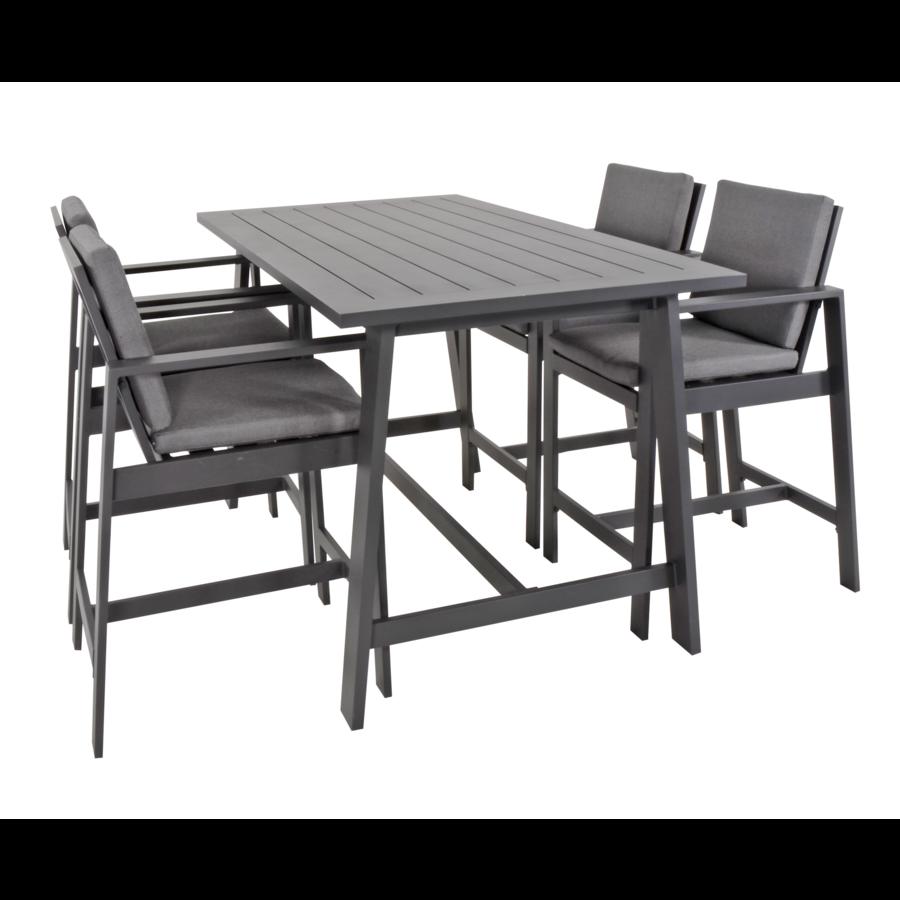 Barstoel - Malibu - 2 Stuks - Antraciet - Aluminium - Lesli Living-5