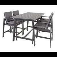 thumb-Barstoel - Malibu - 2 Stuks - Antraciet - Aluminium - Lesli Living-6