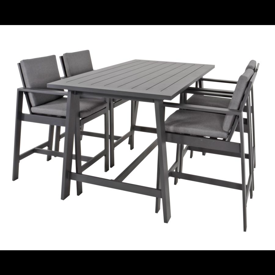 Barstoel - Malibu - 2 Stuks - Antraciet - Aluminium - Lesli Living-6