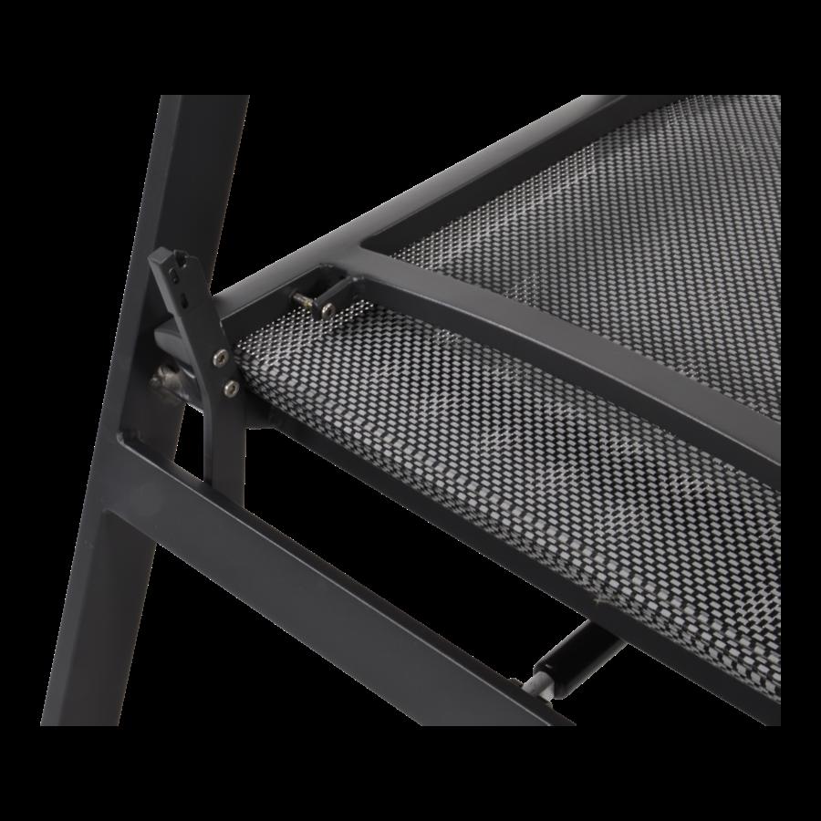 Stoel-Bank Loungeset – Ohio – Antraciet - Aluminium – Lesli Living-9