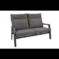 thumb-Lounge Tuinbank – Ohio – Antraciet - Aluminium – Lesli Living-1
