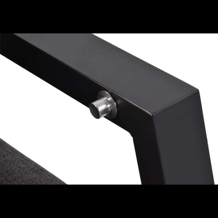 Lounge Tuinstoel – Ohio – Antraciet - Aluminium – Lesli Living-6