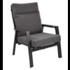 Lesli Living  Lounge Tuinstoel – Ohio – Antraciet - Aluminium – Lesli Living