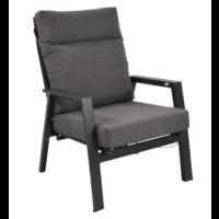 thumb-Lounge Tuinstoel – Ohio – Antraciet - Aluminium – Lesli Living-1