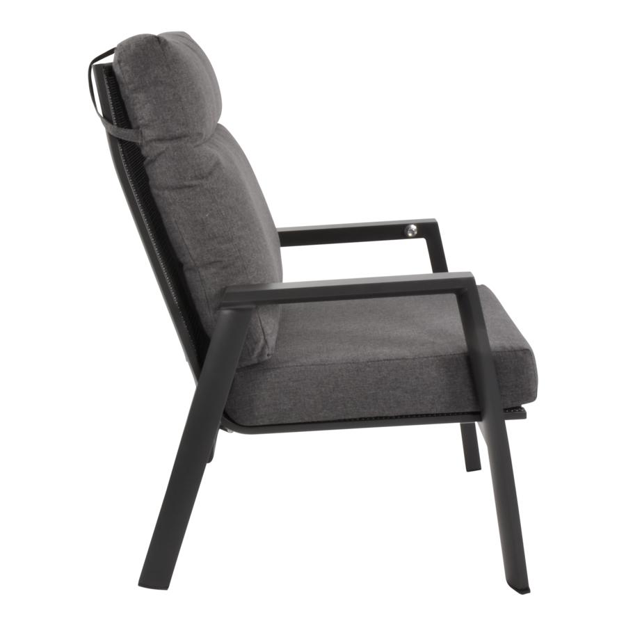 Lounge Tuinstoel – Ohio – Antraciet - Aluminium – Lesli Living-2