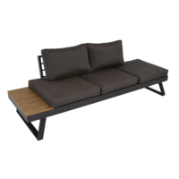 thumb-Arezzo - 2-in-1 - Loungebank - Ligbed - Antraciet - Lesli Living-5