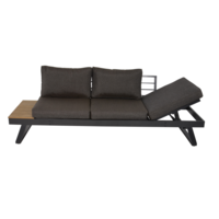 thumb-Arezzo - 2-in-1 - Loungebank - Ligbed - Antraciet - Lesli Living-2
