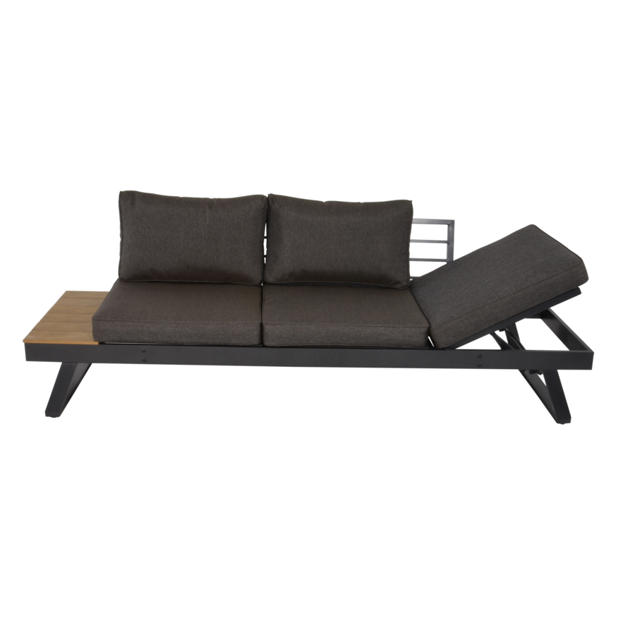 Arezzo - 2-in-1 - Loungebank - Ligbed - Antraciet - Lesli Living-2