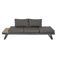 thumb-Arezzo - 2-in-1 - Loungebank - Ligbed - Antraciet - Lesli Living-1