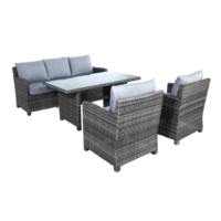 thumb-Dining Loungeset - Jive Rock - Grijs - Wicker - Lesli Living-1