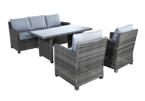 Dining Loungeset - Jive Rock - Grijs - Wicker - Lesli Living